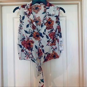 Jolt flower shirt tie